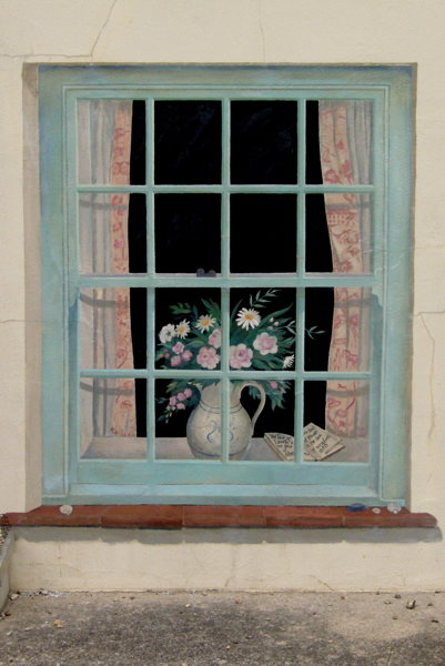 Mary maccarthy trompe l 39 oeil exterior window norfolk for Picture window