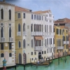 Venetian swimming pool mural - detail
